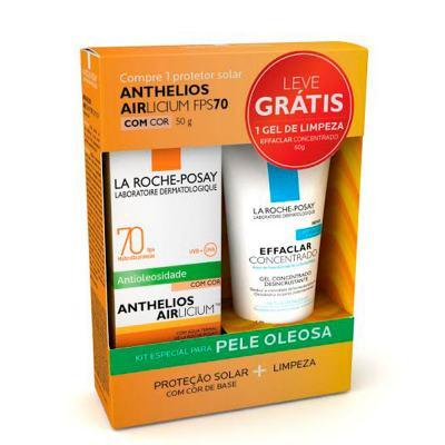 Imagem 1 do produto Anthelios Airlicium com Cor FPS 70 + Effaclar Gel Concentrado Desincrustante La Roche-Posay - Kit