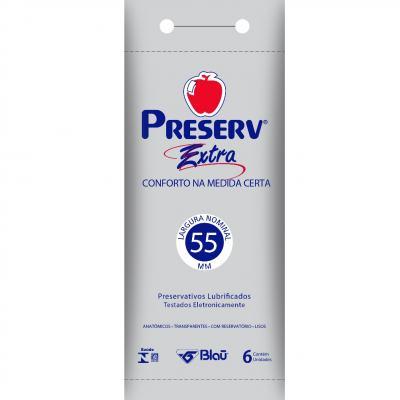 Preservativo Preserv Extra Lubrificado 6 Unidades