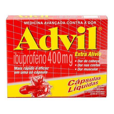 Advil 400mg 8 Cápsulas Líquidas