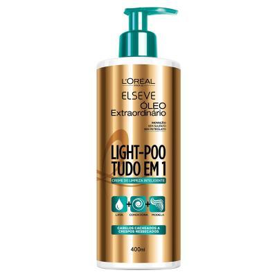 Creme De Limpeza Inteligente Elseve Light-poo óleo Extraordinário 400ml