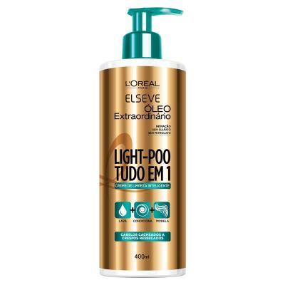 L'Oréal Paris Elseve Light-Poo Óleo Extraordinário - Shampoo de Tratamento - 400ml