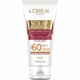 Protetor Solar L'Oréal Paris Solar Expertise Facial Antirrugas FPS 60 - 50g