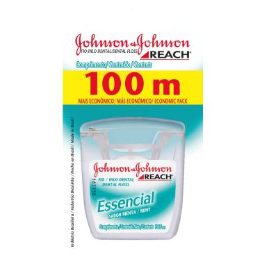 Fio Dental Johnson's Essencial Menta 100m