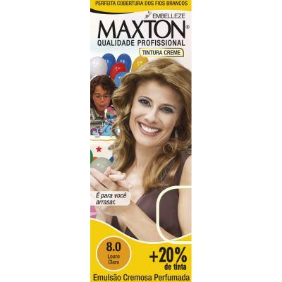 Kit Tintura Prático Maxton 8.0 Louro Claro