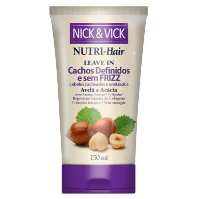 Nick & Vick Nutri-hair Cachos Definidos E Sem Frizz - Leave-in - 150ml