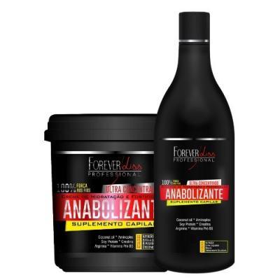 Imagem 1 do produto Kit Shampoo + Creme de Hidratação Forever Liss Professional Anabolizante Capilar - Kit
