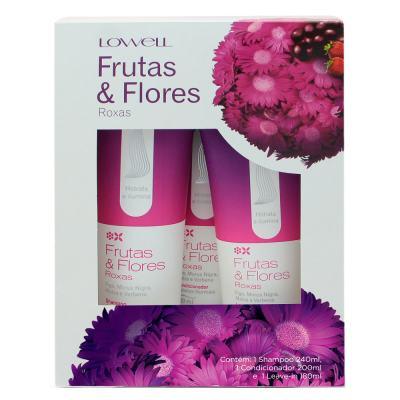 Lowell Frutas & Flores Roxas Kit - Shampoo + Condicionador + Leave-In - Kit