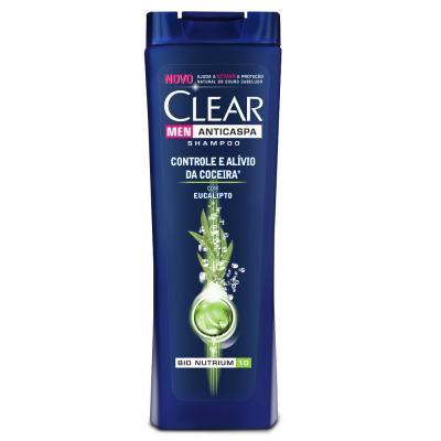Shampoo Anticaspa Clear Men Controle e Alívio da Coceira 400ml