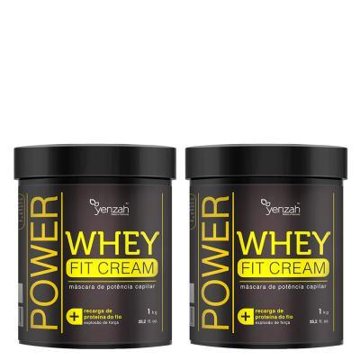 Yenzah Power Whey Fit Cream - Máscara de Reconstrução - Kit - 2 Un
