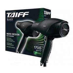Secador De Cabelos Taiff Black Com 1700w, 5 Temperaturas E 2 Velocidades - 110v