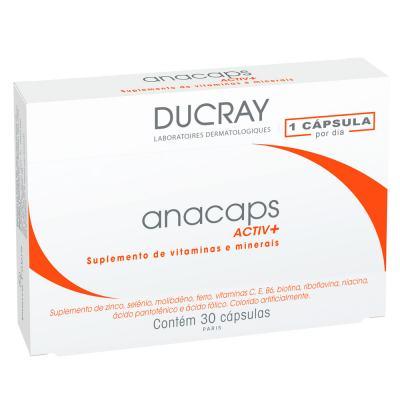 Imagem 1 do produto Anacaps Activ+ Ducray - Suplemento Antiqueda Capilar - 30 Cáps