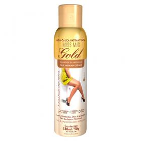 Meia Calça Instantânea 150ml Gold Nylons - Spray Bronzeador - Morena Escura
