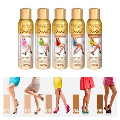 Imagem 4 do produto Meia Calça Instantânea 150ml Gold Nylons - Spray Bronzeador - Morena Escura