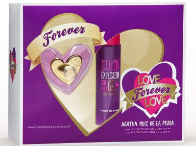 Kit Love Forever Love De Agatha Ruiz De La Prada Eau De Toilette Feminino - 80 ml + Shower Gel 100 ml kit