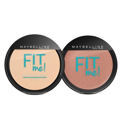 Fit Me! Maybelline - Pó Compacto + Blush para Peles Claras - Kit
