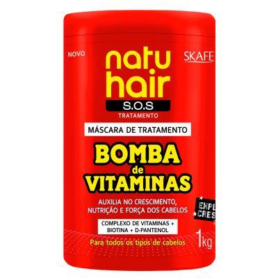 Skafe Natuhair Bomba de Vitaminas - Máscara de Tratamento - 1kg
