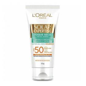 Protetor Solar com Cor L'Oréal Paris Solar Expertise Toque Seco FPS 50 - 50g
