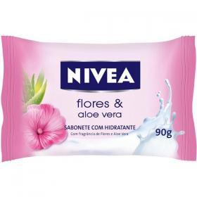 Sabonete Em Barra Nivea Flores e Aloe Vera Dúzia 90g