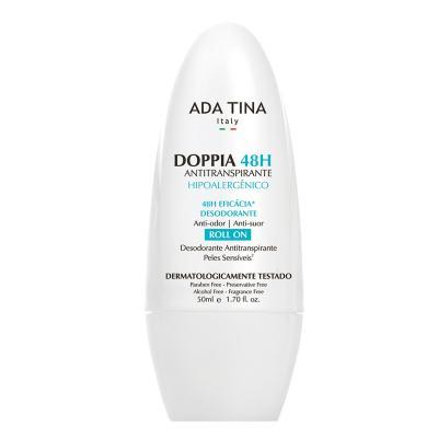 Imagem 1 do produto Ada Tina Doppia 48H Antitranspirante Hipoalergênico - Desodorante Antitranspirante Roll-On - 50ml