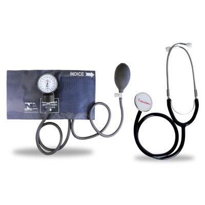 Imagem 2 do produto Kit Esteto Duplo com Aparelho de Pressão Azul Premium