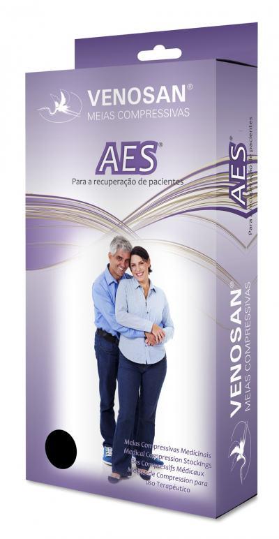 Imagem 1 do produto Meia Panturrilha AD 18 mmHg AES Venosan - XXG