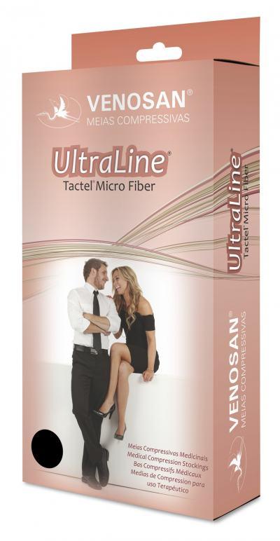 Imagem 3 do produto Meia Calça AT 30-40 mmHg Ultraline 4000 Venosan - PONTEIRA ABERTA BEGE. G