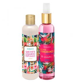 Fiorucci Splash Fragrance Exotic Chic Kit - Deo Colônia + Sabonete Líquido - Kit