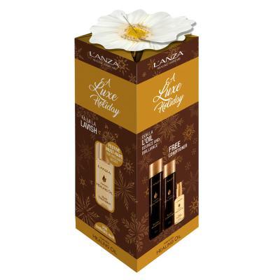 L'anza Keratin Healing Oil Kit - Shampoo + Condicionador + óleo De Tratamento - Kit