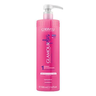 Cadiveu Glamour Plus Pré-reestruturante  - Shampoo De Limpeza - 500ml