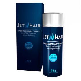 Jet Hair Maquiagem para Cabelos - Disfarce para a Calvície - Castanho Médio