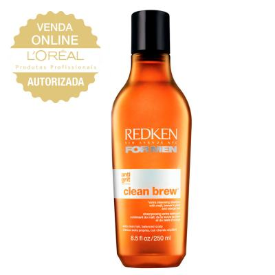 Redken For Men Clean Brew - Shampoo de Limpeza Profunda - 250ml