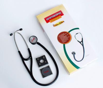 Imagem 2 do produto Kit Esteto Cardiológico Preto com Aparelho de Pressão Azul Premium