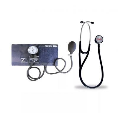 Imagem 6 do produto Kit Esteto Cardiológico Preto com Aparelho de Pressão Azul Premium