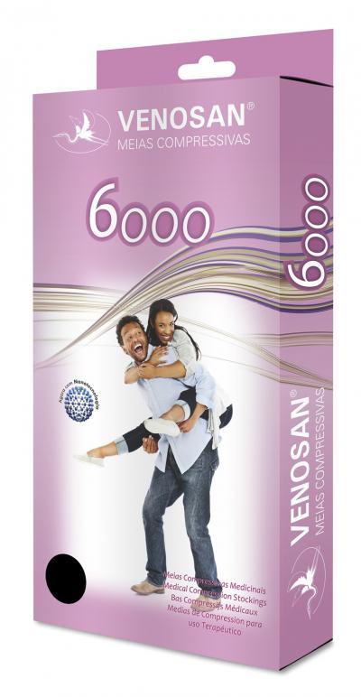 Imagem 2 do produto Meia Coxa AGH 30-40 mmHg 6000 Venosan - PONTEIRA ABERTA BEGE XG