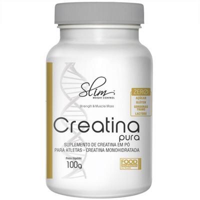 Creatina Pura 100g  Monohidratada - Slim -