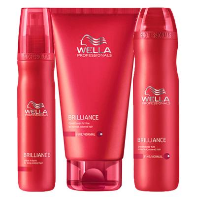 Kit Shampoo + Condicionador + Leave-In Wella Professionals Brilliance - Kit