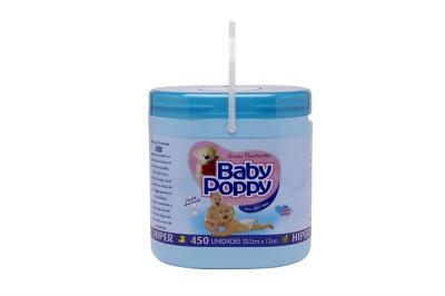 Lenço Umedecido Baby Poppy Azul 450 Unidades