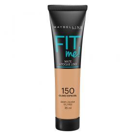 Fit Me! Maybelline - Base Líquida para Peles Claras - 150 - Claro Especial