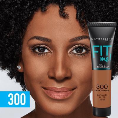 Imagem 3 do produto Fit Me! Maybelline - Base Líquida para Peles Escuras - 300 - Escuro Original