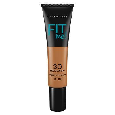 Fit Me! Maybelline - Corretivo Líquido para peles Escuras - 30 - Médio Escuro