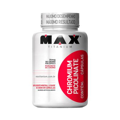 Picolinato de Cromo 120 Cápsulas Max Titanium - Picolinato de Cromo Max Titanium 120 Caps