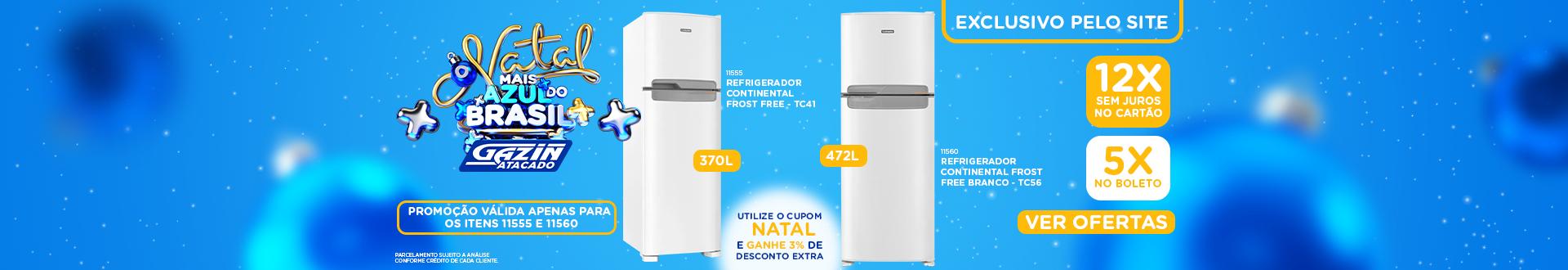 Natal Azul - Refrigerador Cupom