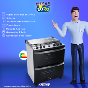 Miniatura - FOGAO 5B BRASTEMP DUPLO FORNO