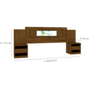 Miniatura - CABECEIRA MOVAL SEVILHA 1,40 E 1,60