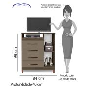 Miniatura - COMODA ALBATROZ TURQUEZA 4 GVS 1 PT