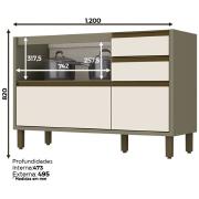 Miniatura - BALCAO HENN LYRA 1,20 M 4 GVS 1 PT