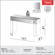 Miniatura - APARADOR DALLA COSTA TB48 1,40 M 100% MDF