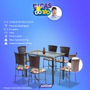 Miniatura - CONJUNTO MESA FAMA GRAMADO 6 CAD