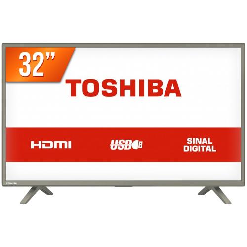 Foto - TV 32P TOSHIBA LED HD USB HDMI (MH)