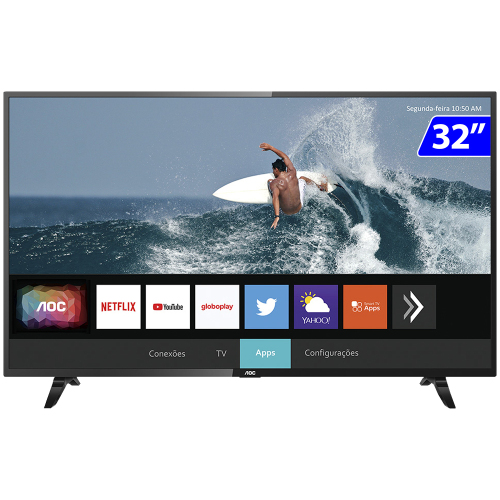 Foto - TV 32P AOC LED SMART WIFI HD HDMI